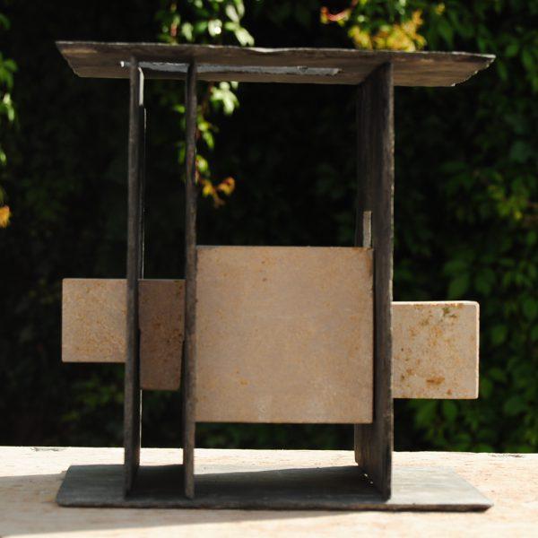 Werk geïnspireerd op het werk van Mondriaan.